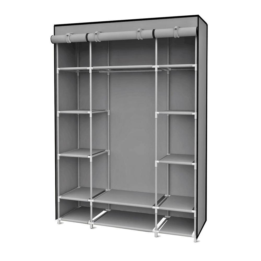 Garment Racks & Portable Wardrobes - Closet Storage & Organization with regard to Double Canvas Wardrobe Rail Clothes Storage Cupboard (Image 16 of 30)