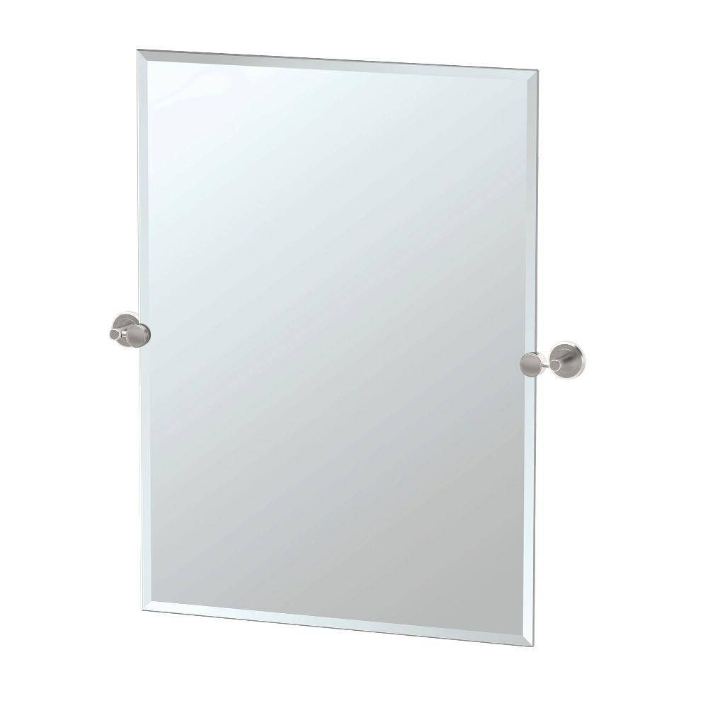 Gatco Latitude Ii 27.50 In. X 31.50 In. Frameless Single Rectangle intended for Frameless Large Mirrors (Image 13 of 25)
