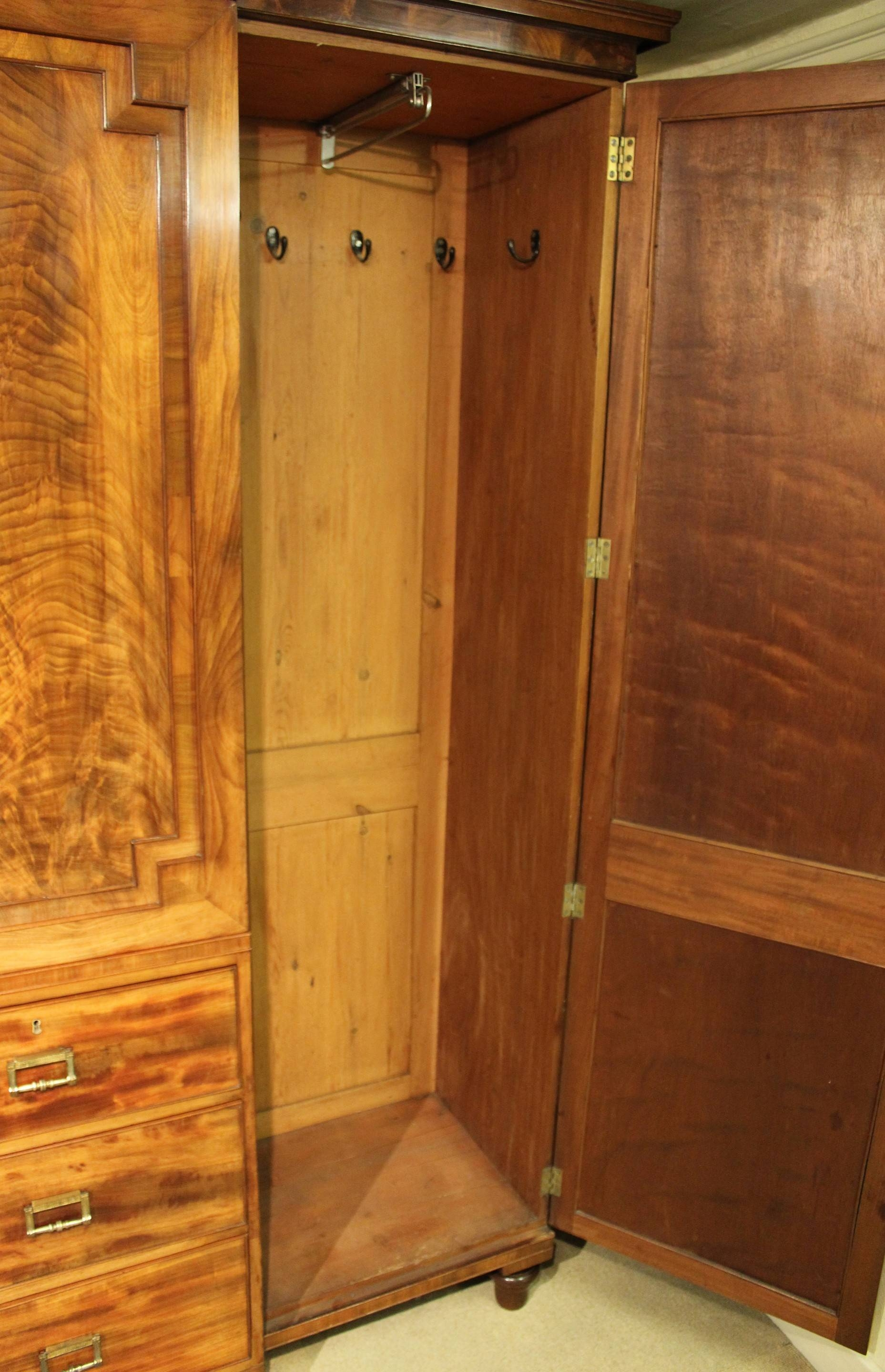 George Iv Period Mahogany Breakfront Wardrobe Of Exceptionally throughout Mahogany Breakfront Wardrobe (Image 12 of 30)
