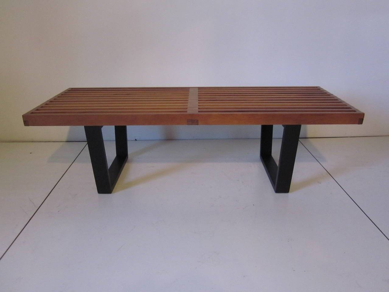 George Nelson Slat Bench Or Coffee Table At 1Stdibs with Nelson Coffee Tables (Image 8 of 30)