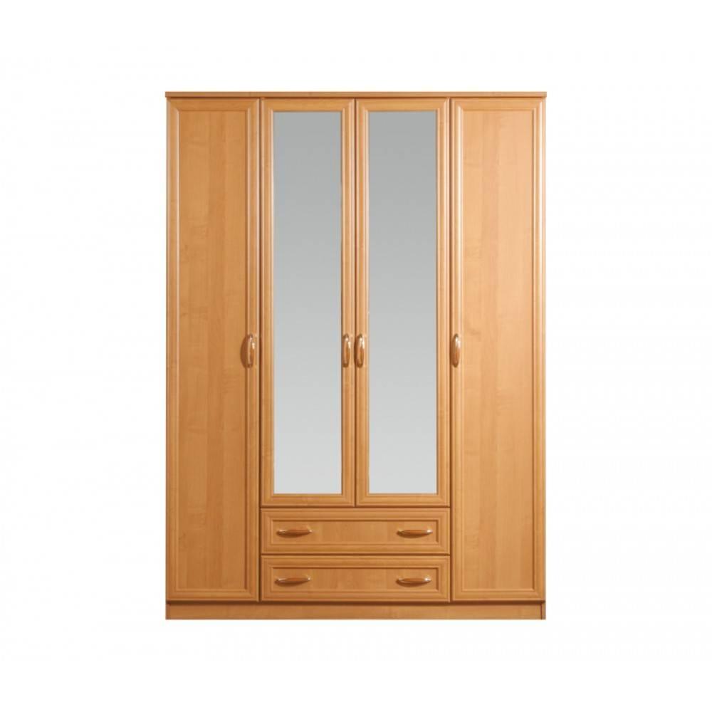 Georgia 4-Door Wardrobe With Mirror | Alder, Ace Decore - Modern throughout 4 Door Mirrored Wardrobes (Image 7 of 15)