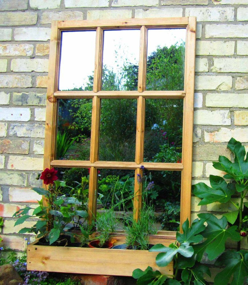 Georgian Window Illusion Garden Mirror with regard to Garden Window Mirrors (Image 15 of 25)