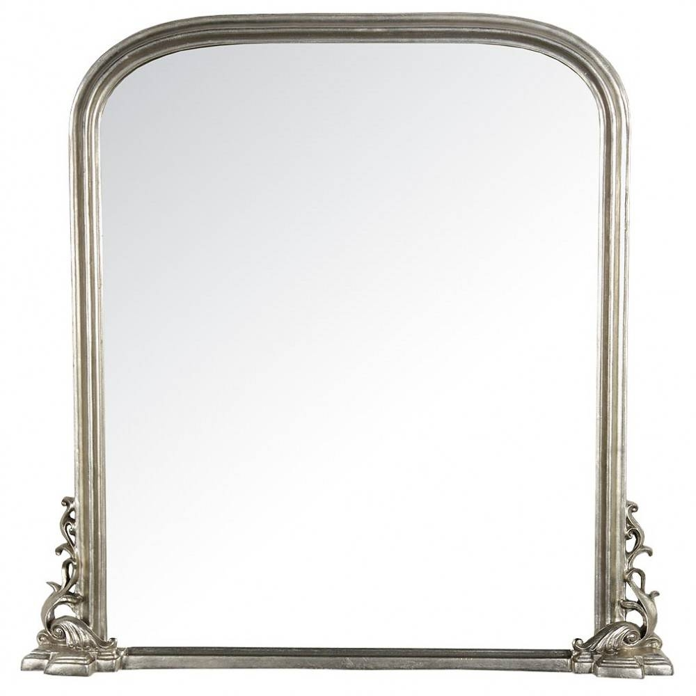 Georgiana Champagne Silver Gilt Leaf Bevelled Overmantle Wall in Tall Silver Mirrors (Image 12 of 25)