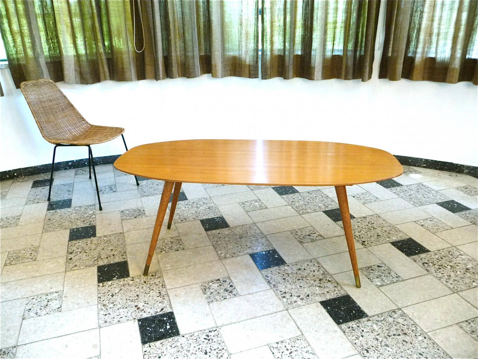 German Oval Birch Coffee Table, 1950S For Sale At Pamono with Birch Coffee Tables (Image 12 of 30)