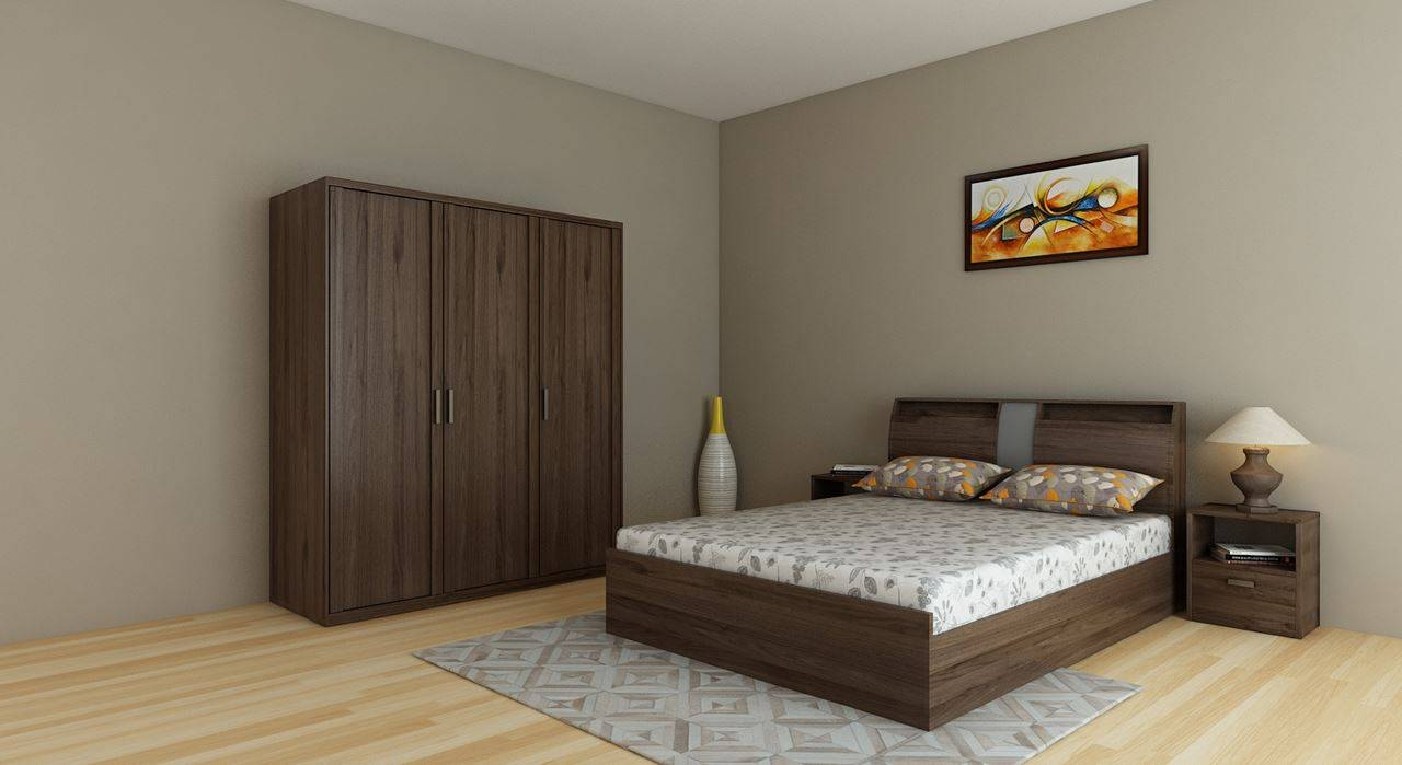 Get Modern Complete Home Interior With 20 Years Durability..bed in Wardrobes Sets (Image 10 of 15)