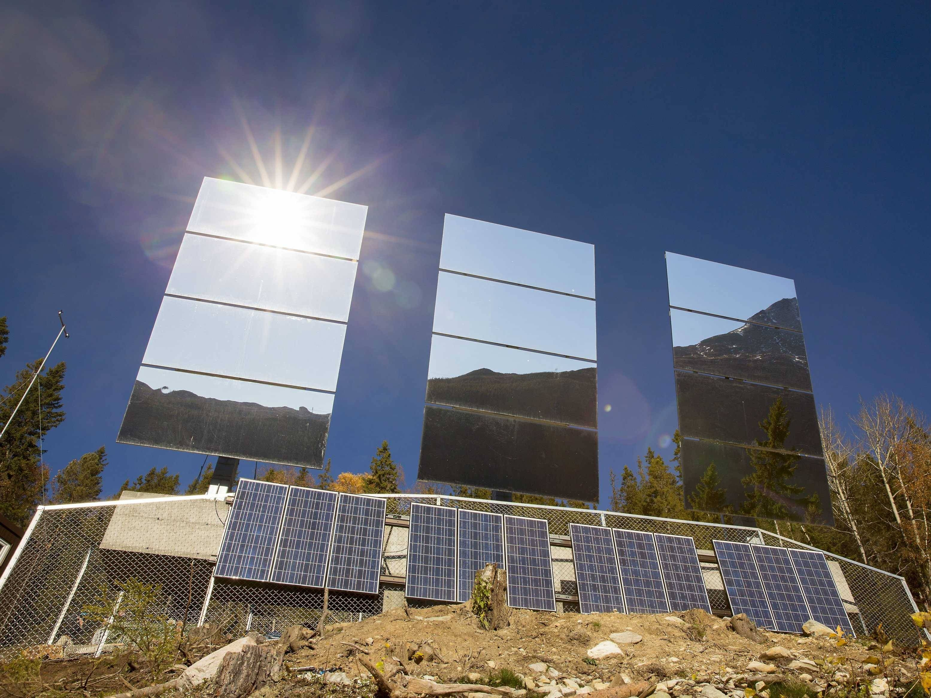 Giant Mirrors Installed On Norway Mountainside - Business Insider inside Massive Mirrors (Image 17 of 25)