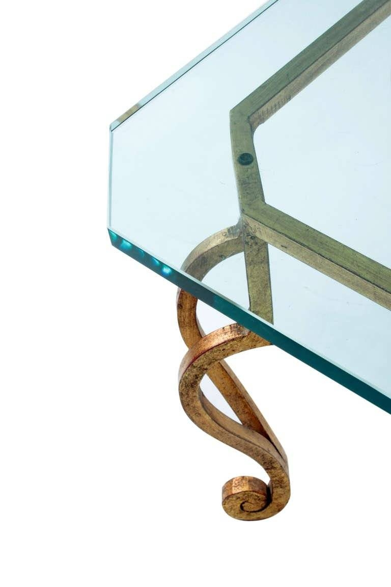 Gilded Bronze Coffee Table With Thick Glass Top For Sale At 1Stdibs for Bronze Coffee Table Glass Top (Image 19 of 30)