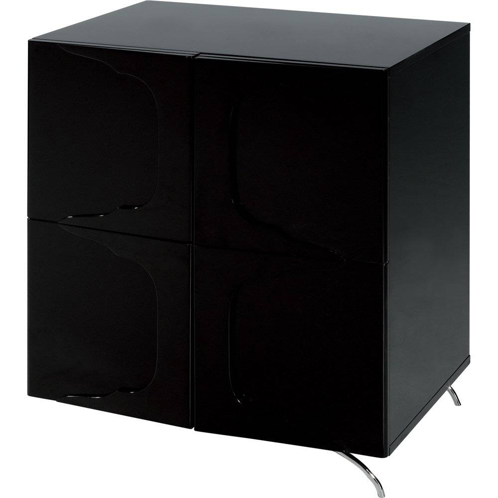 Gillmore Space High Gloss Black Square Sideboard - Gillmore Space intended for High Sideboards (Image 9 of 30)
