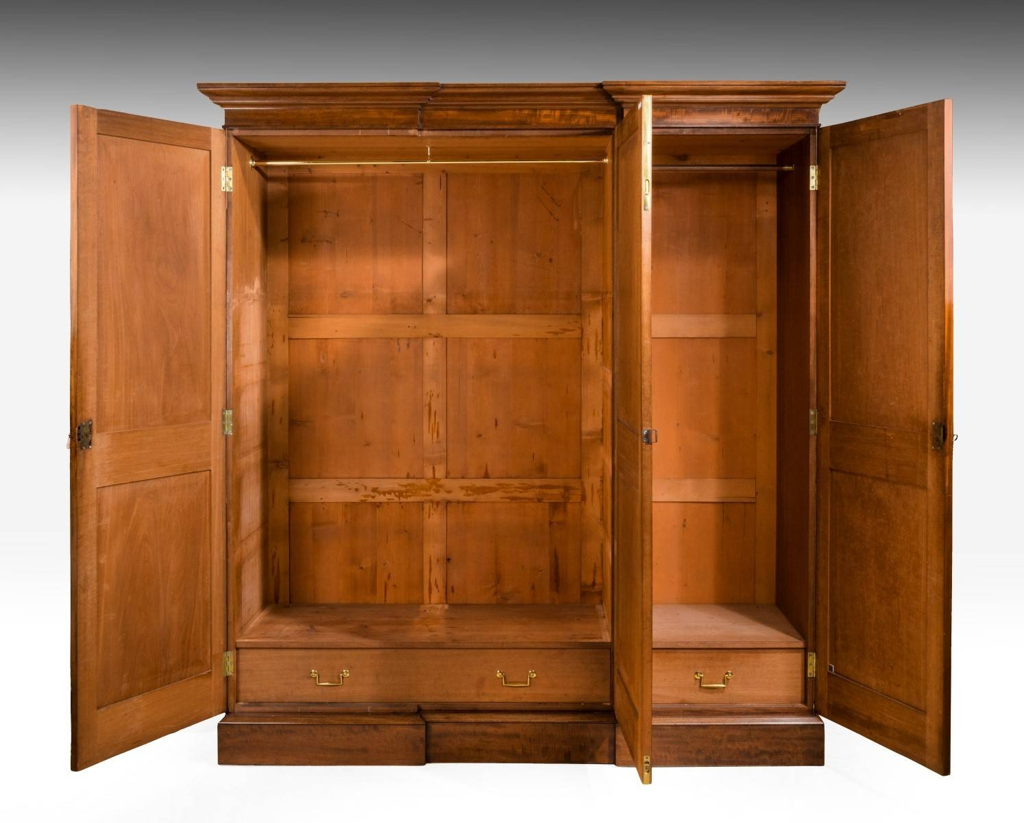 Gillows Design Breakfront Wardrobe (C. 1830 England) From Summers regarding Breakfront Wardrobe (Image 10 of 30)
