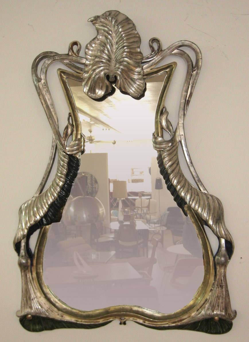 Gilt Art Nouveau Frame | Previewmod Throughout Art Nouveau Mirrors (View 18 of 25)
