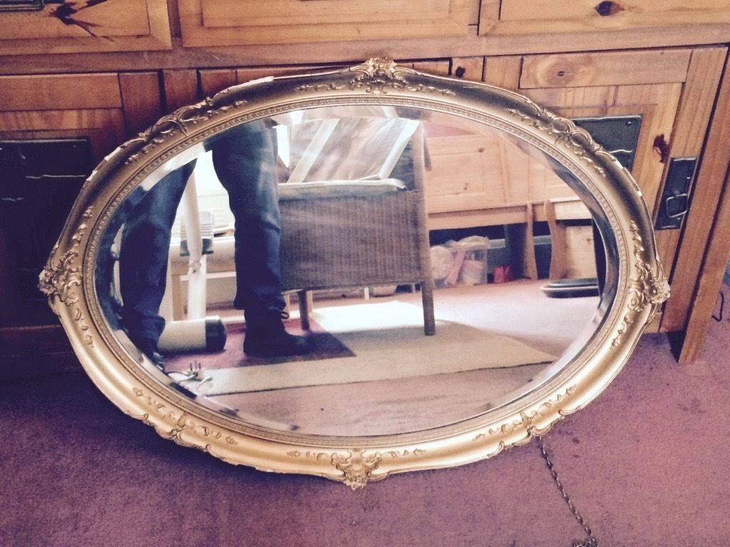 Gilt Edged Oval Beveled Mirror | In Leicester, Leicestershire with Gilt Edged Mirrors (Image 9 of 25)