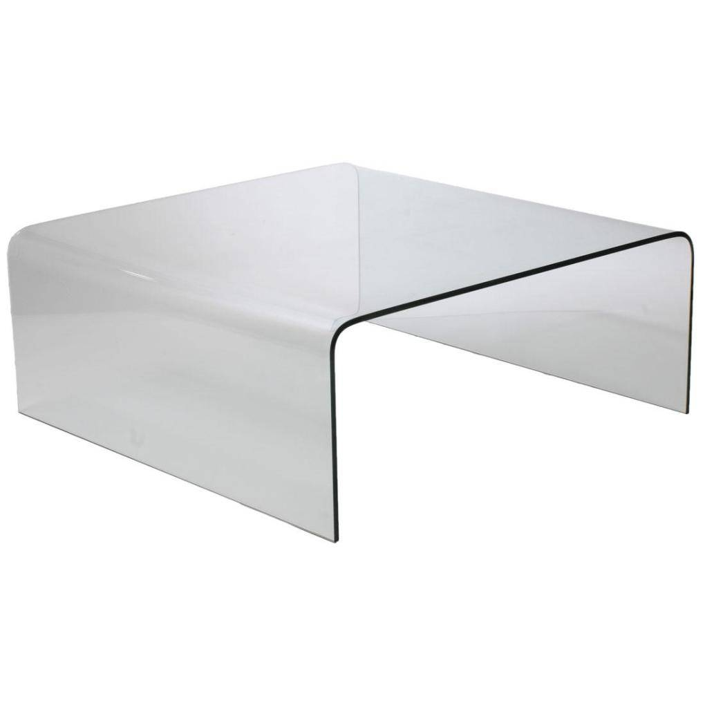 Ginny Glass Coffee Table-Clear Glass | Coffee Tables intended for Transparent Glass Coffee Tables (Image 17 of 30)