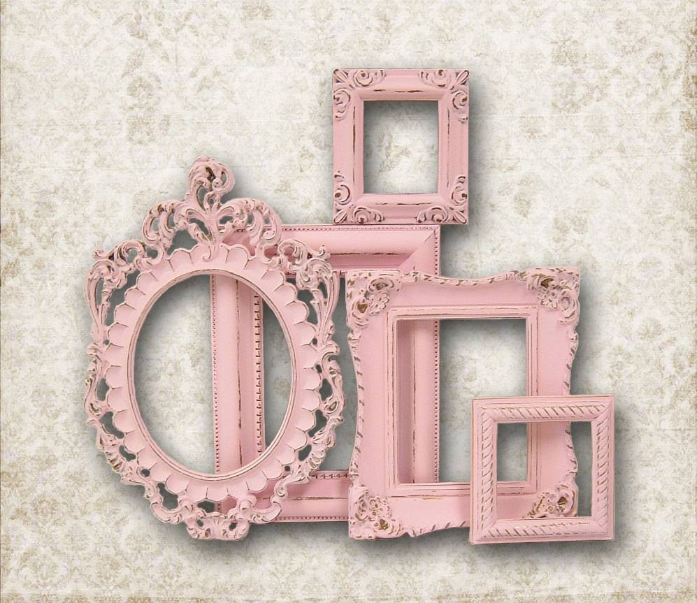 Girls Bedroom: Nice Pink Accent Oval And Square Mirror Frame For inside Oval Shabby Chic Mirrors (Image 11 of 25)