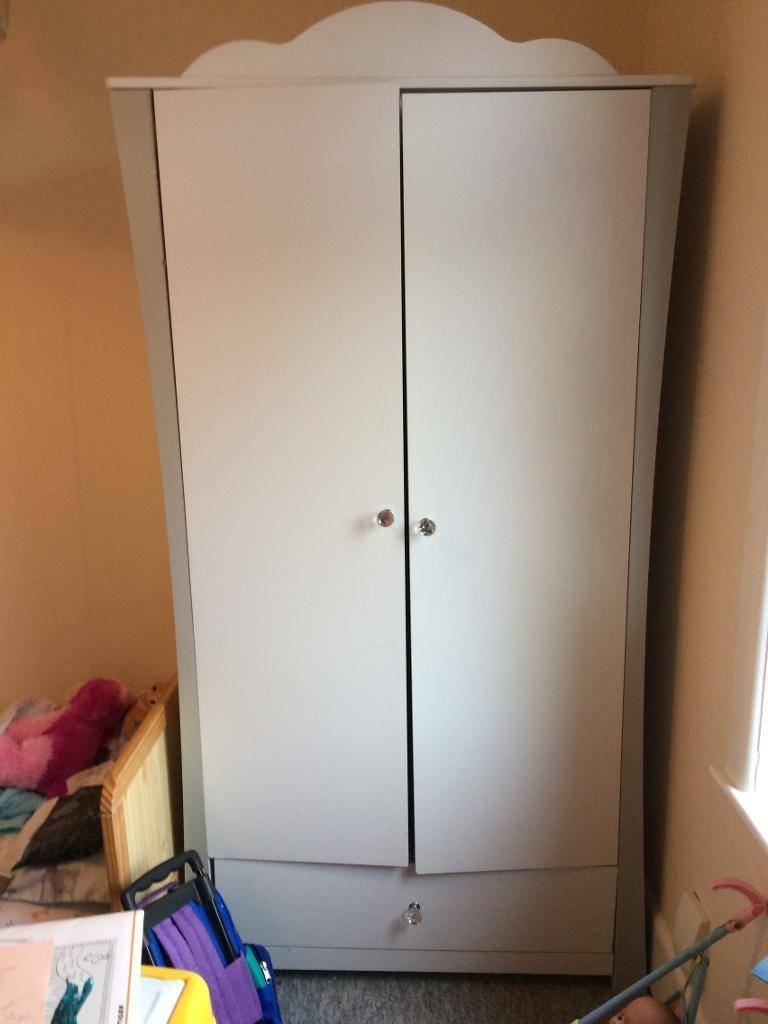Girls Double Wardrobe With Rail And One Drawer | In Poole, Dorset with regard to Double Rail Wardrobe With Drawers (Image 12 of 30)