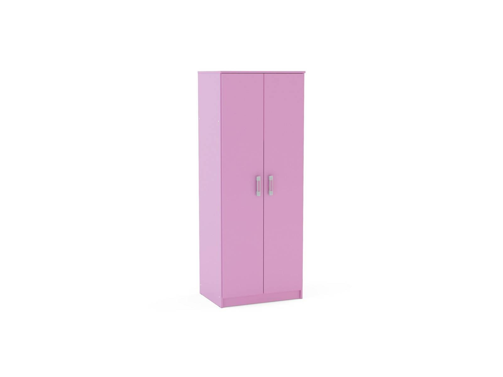 Girls High Gloss Pink 2 Door Wardrobe regarding Pink High Gloss Wardrobes (Image 3 of 15)