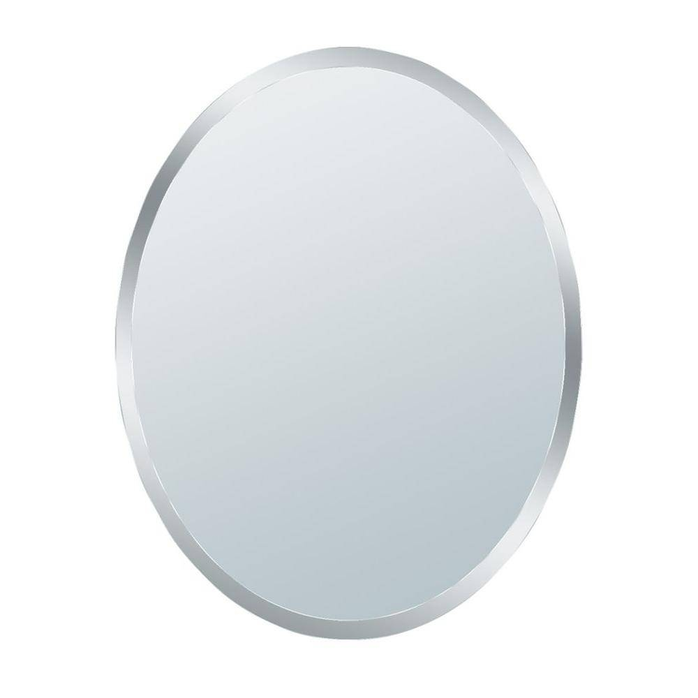 Glacier Bay 31 In. X 21 In. Small Beveled Oval Mirror 1845   The With Regard To Beveled Edge Oval Mirrors (Photo 1 of 25)