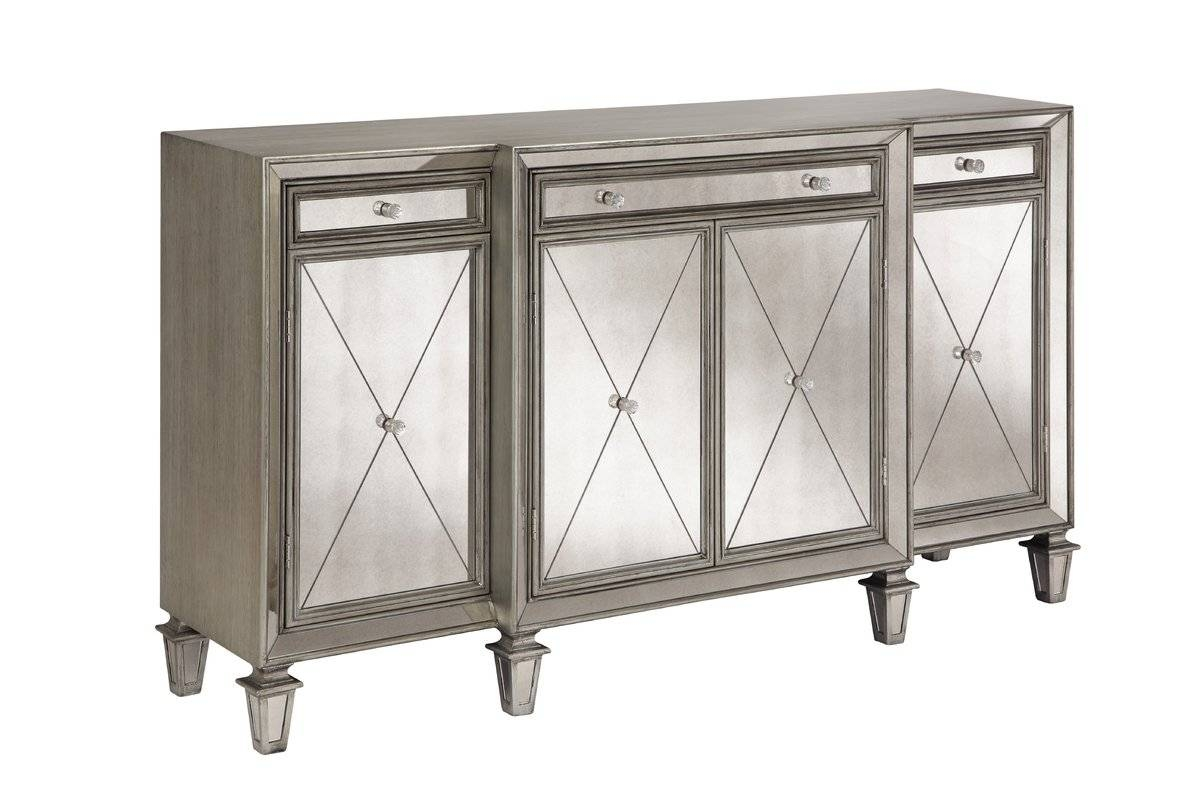 Glam Sideboards & Buffets | Joss & Main with regard to Black And Silver Sideboards (Image 12 of 30)