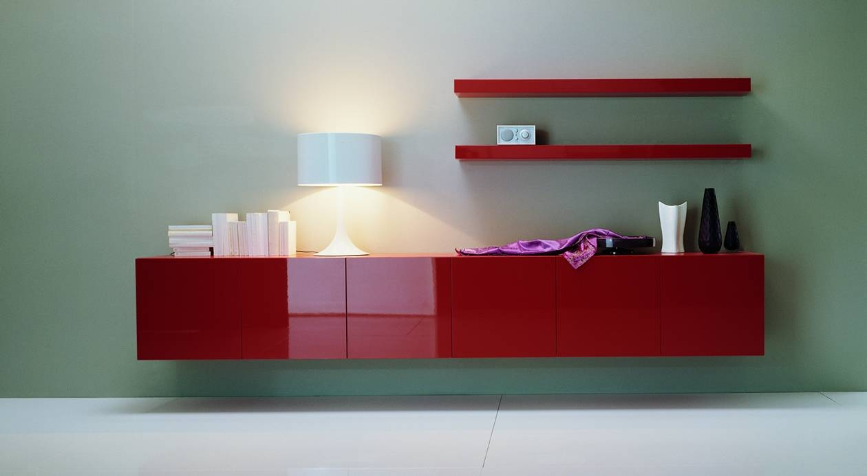 Glamorous High Gloss Furniture Furniture Modern Bedroom Furniture intended for Red High Gloss Sideboards (Image 13 of 30)
