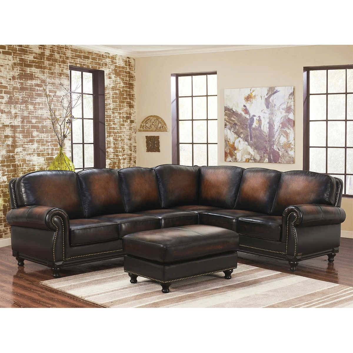 Glamorous Real Leather Sectional Sofa 23 For Your Ekornes inside Ekornes Sectional Sofa (Image 18 of 30)