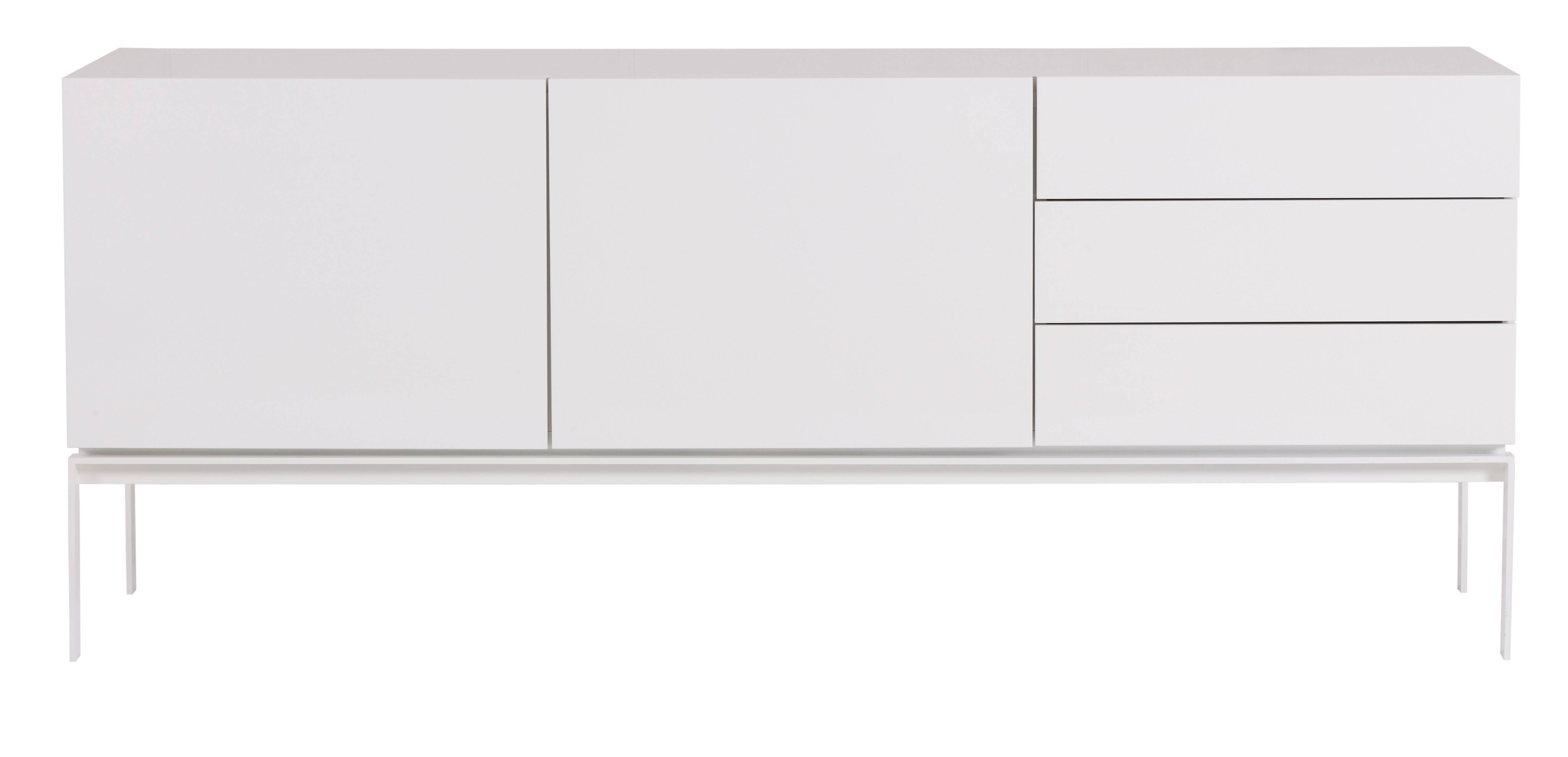 Glare Sideboard + Legs In High Gloss White + Lacquered White inside Gloss White Sideboards (Image 13 of 30)