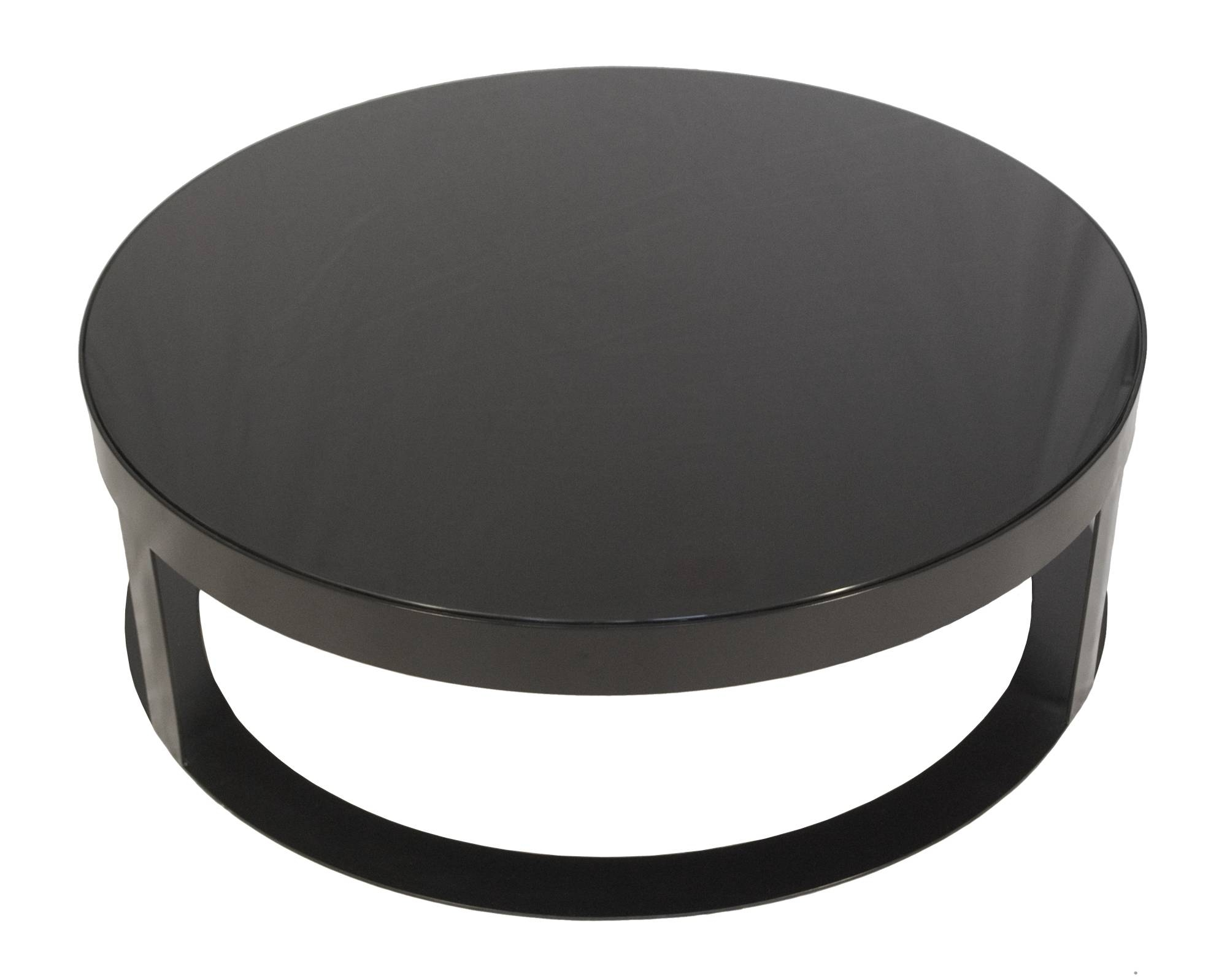 Glass And Black Metal Coffee Table - Jericho Mafjar Project with regard to Round High Gloss Coffee Tables (Image 13 of 30)