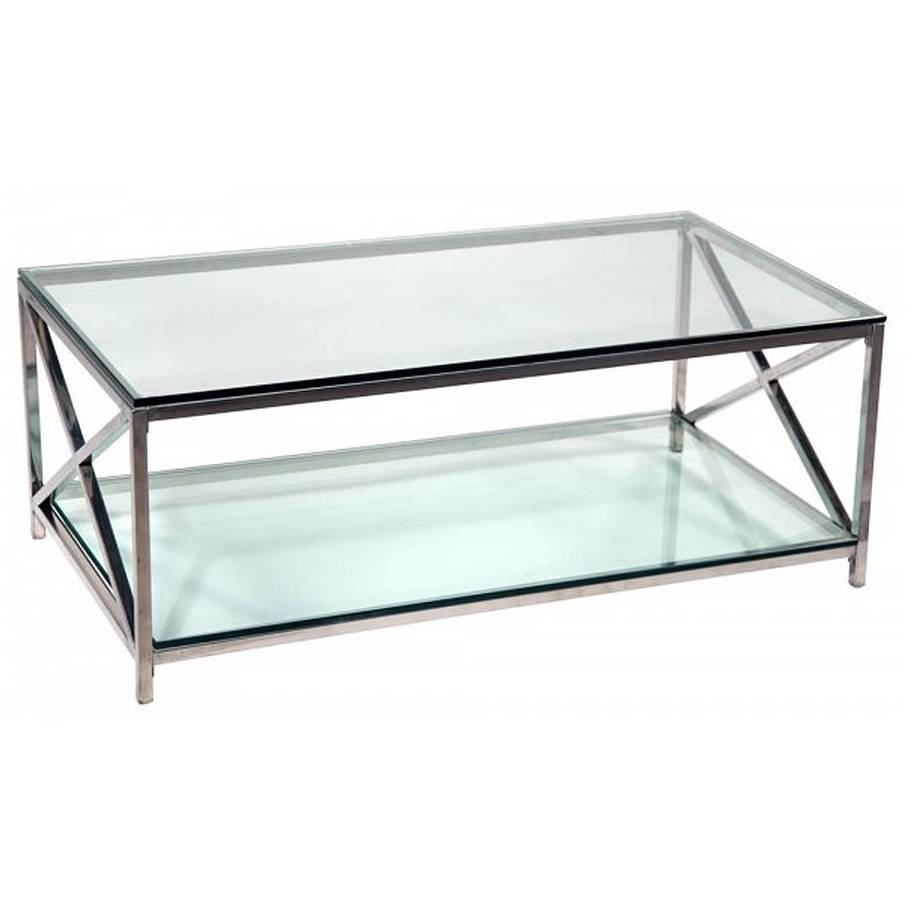 Glass And Chrome Coffee Table Good Modern Coffee Table On Wood regarding Modern Chrome Coffee Tables (Image 22 of 30)