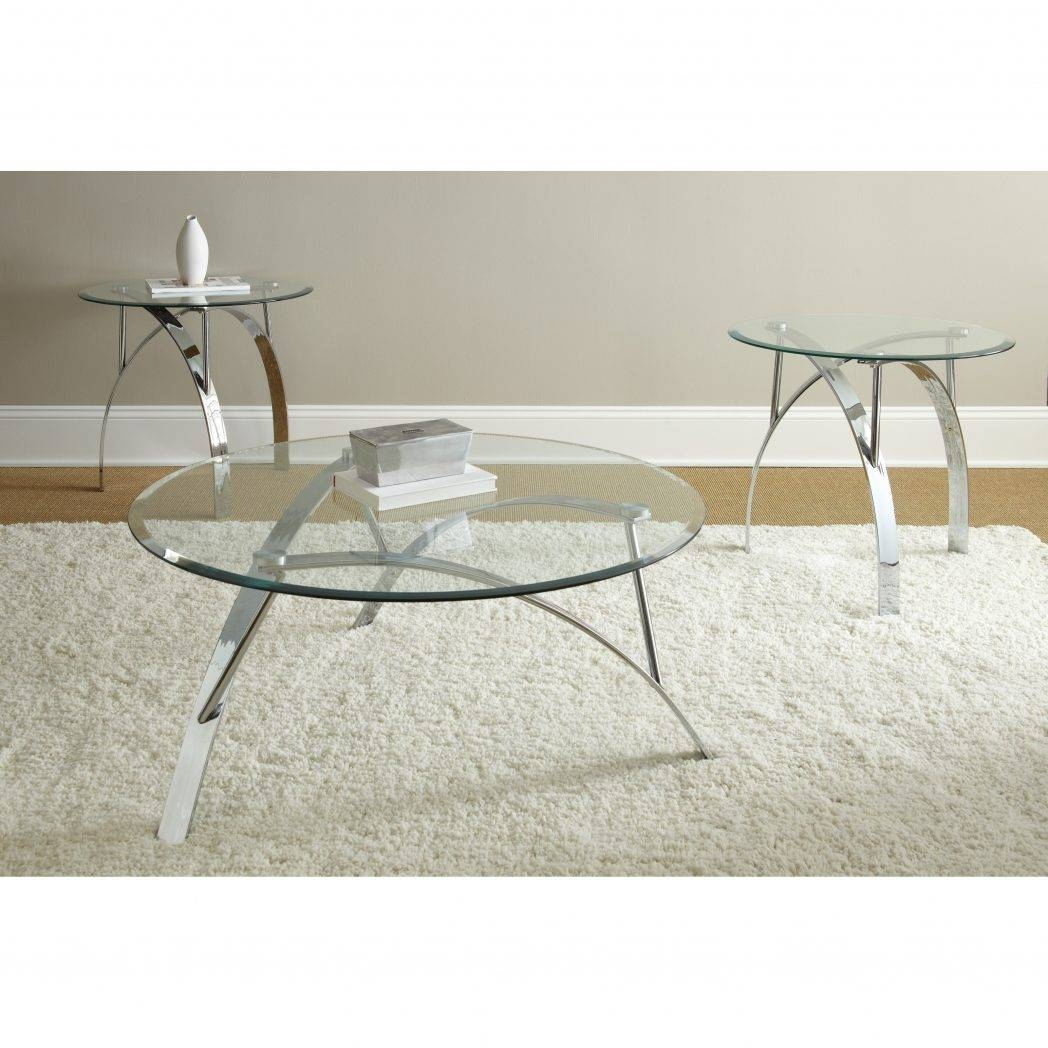 Glass And Chrome Coffee Table Ideas Round With Legs Unusual Tables regarding Round Chrome Coffee Tables (Image 15 of 30)