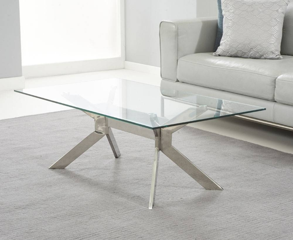 Glass And Metal Coffee Table Round Gl Metal Coffee Table - Jericho inside Glass and Metal Coffee Tables (Image 12 of 30)