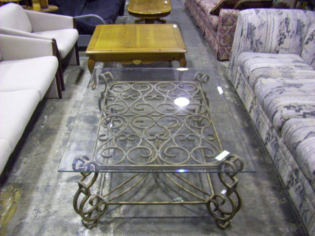 Glass And Metal Coffee Tables / Coffee Tables / Thippo for Metal Coffee Tables With Glass Top (Image 15 of 31)