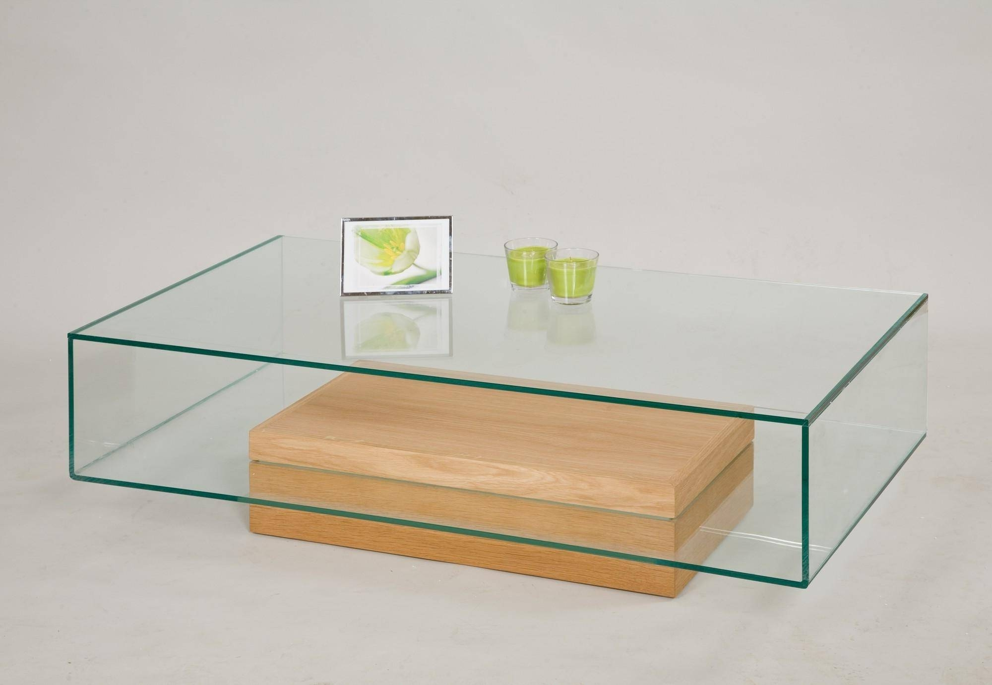 Glass And Oak Coffee Table Uk A Bold Modern Structure Two Level in Oak And Glass Coffee Tables (Image 14 of 30)