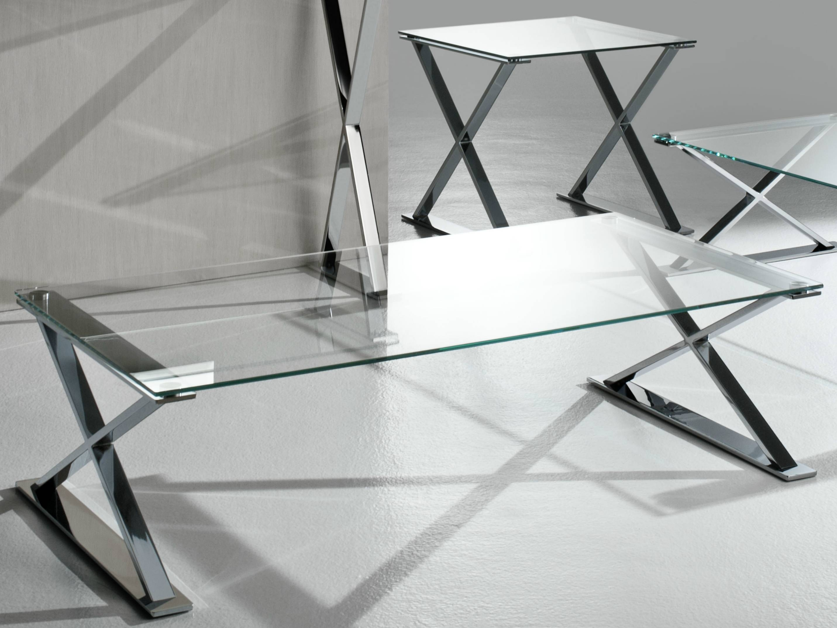 Glass And Stainless Steel Coffee Table Genesis Villiers Furniture in Glass Steel Coffee Tables (Image 14 of 30)