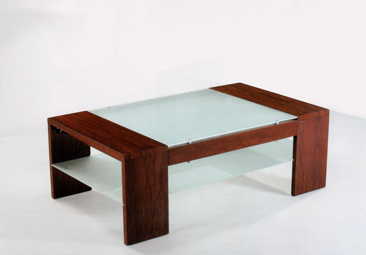 Glass And Wood Coffee Table Modern – Round Glass Coffee Table for Wood Modern Coffee Tables (Image 15 of 30)