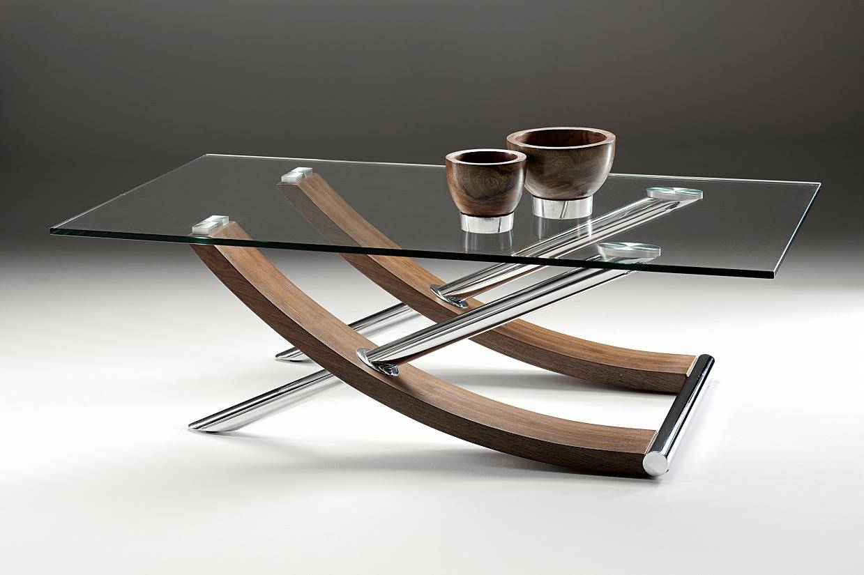 Glass And Wood Coffee Tables Uk regarding Wood Chrome Coffee Tables (Image 12 of 30)
