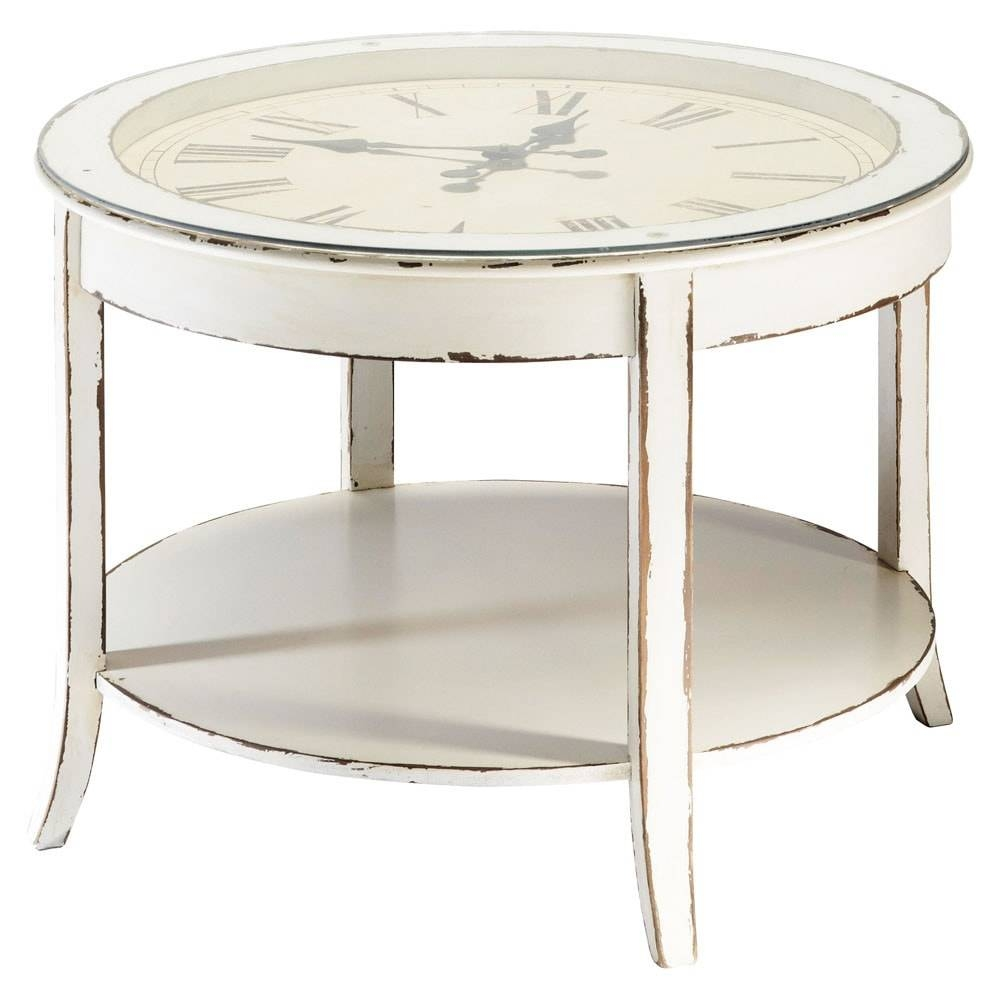 Popular Photo of Clock Coffee Tables Round Shaped
