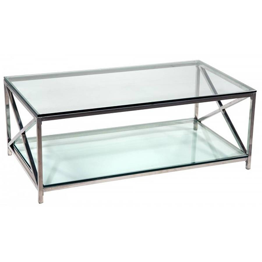 Glass Chrome Coffee Table Rectangle | Home Design Ideas pertaining to Rectangle Glass Chrome Coffee Tables (Image 24 of 30)
