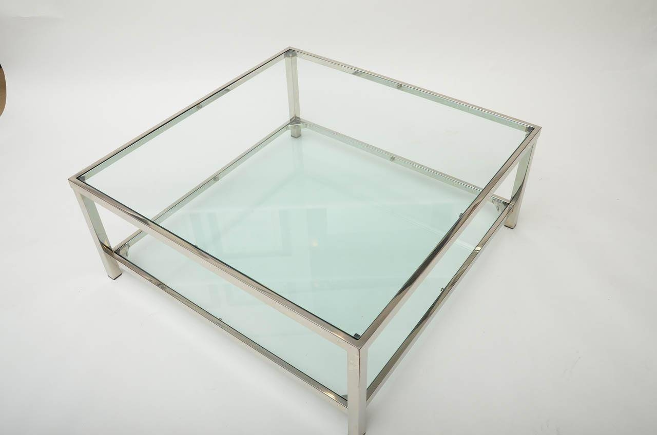 Glass Chrome Square Coffee Tables - See Here — Coffee Tables Ideas regarding Glass Square Coffee Tables (Image 18 of 30)