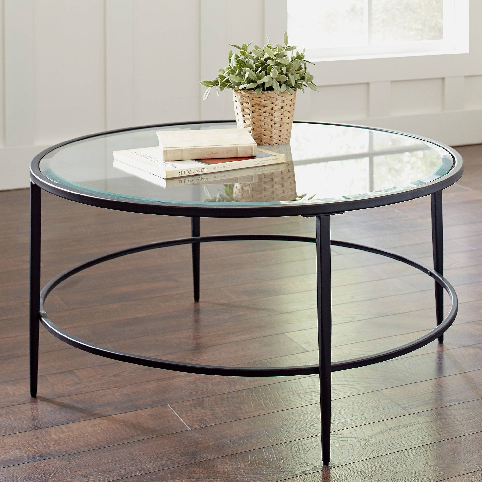 Glass Circular Coffee Table | Coffee Tables Decoration with Glass And Metal Coffee Tables (Image 16 of 30)