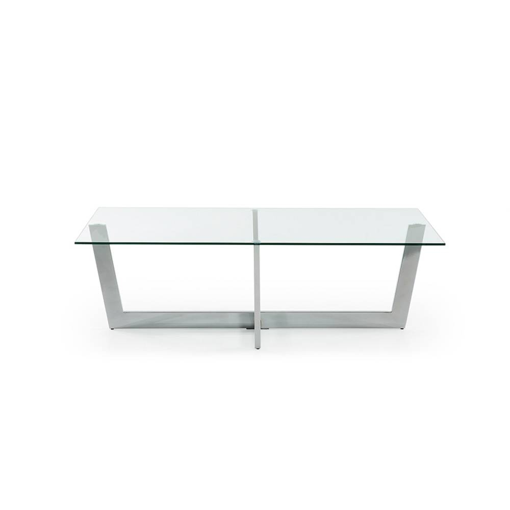 Glass Coffee Table Aina, Modern Design with Transparent Glass Coffee Tables (Image 19 of 30)
