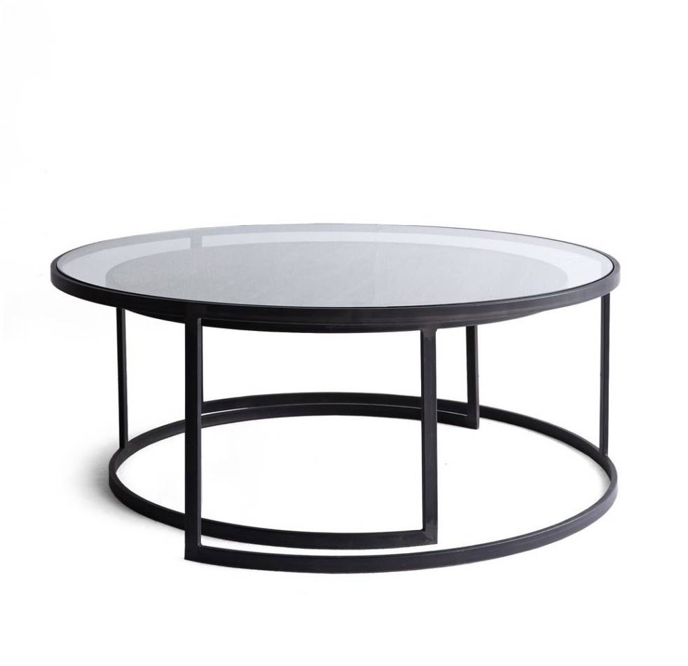 Glass Coffee Table Nest – Cocinacentral.co regarding Nest Coffee Tables (Image 14 of 30)