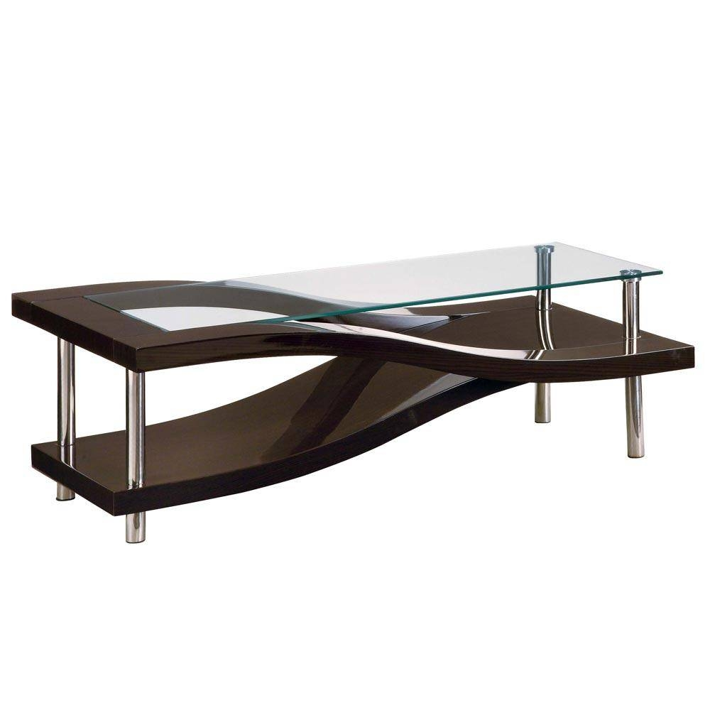 Glass Coffee Tables Furniture Table Base Case Goods Anchor Table in Wood Chrome Coffee Tables (Image 13 of 30)