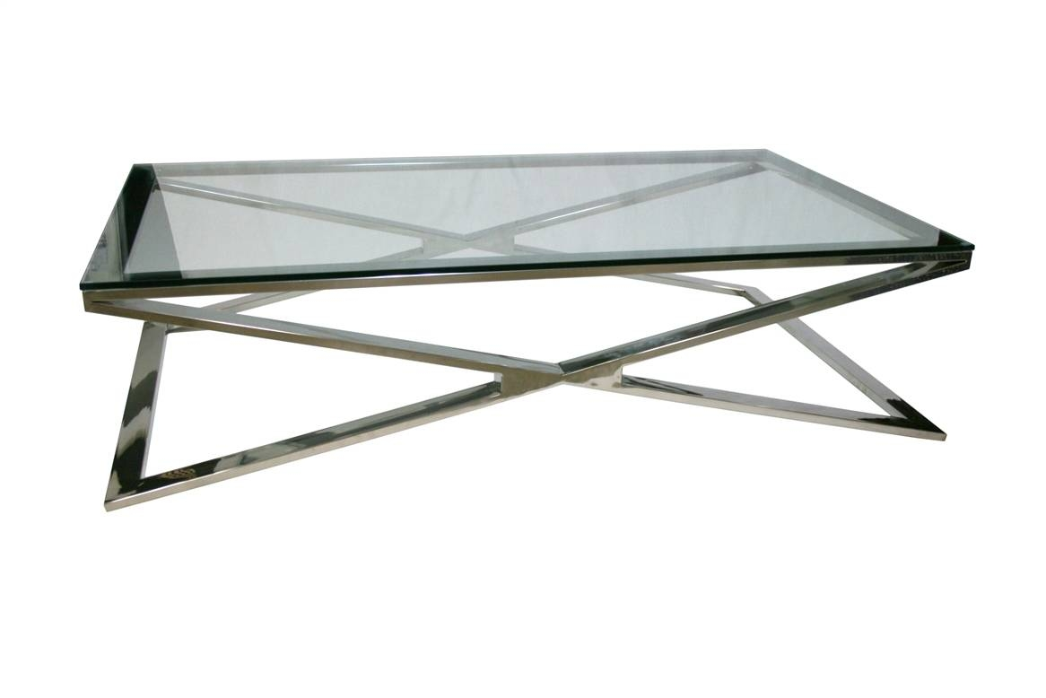 Glass Coffee Tables with regard to Glass Steel Coffee Tables (Image 17 of 30)