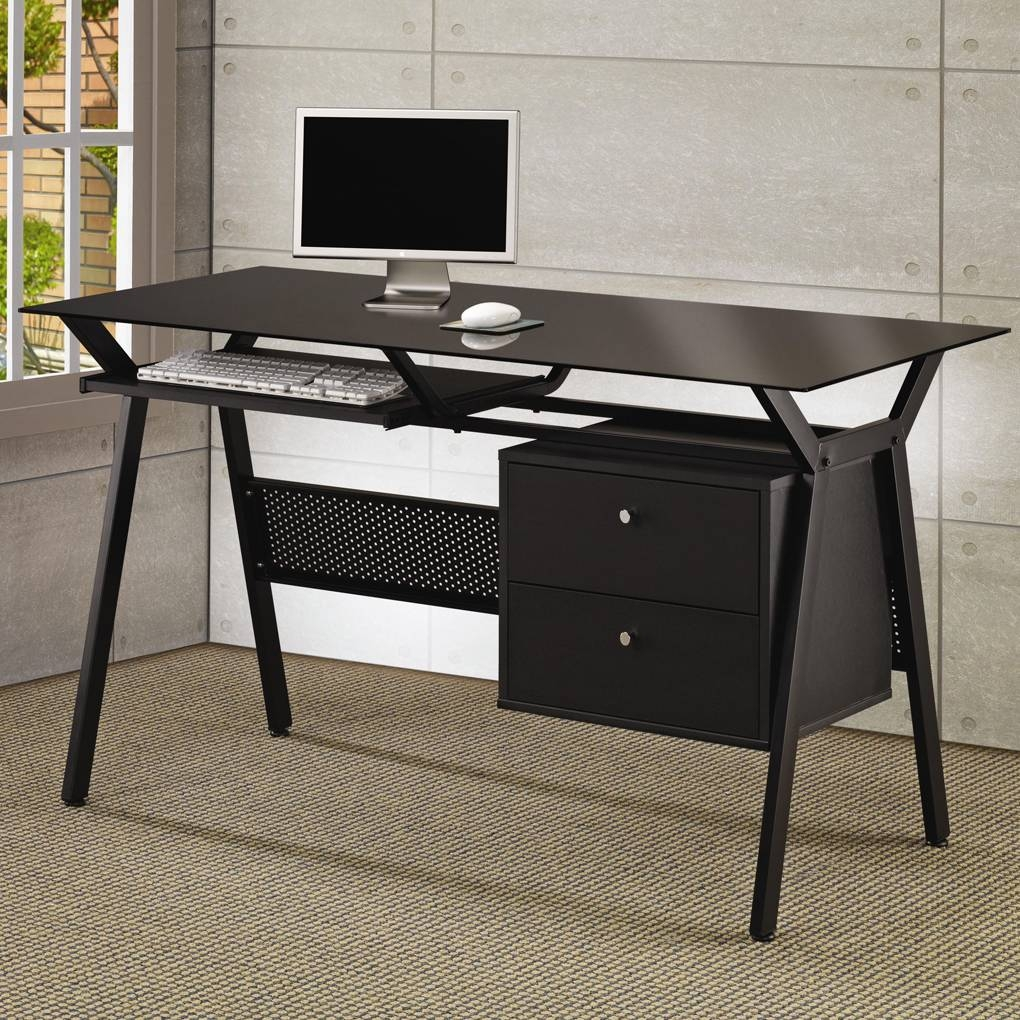 Glass Desk Office Depot E Home Design | Michaelmcknight with regard to Desk Sideboards (Image 11 of 30)