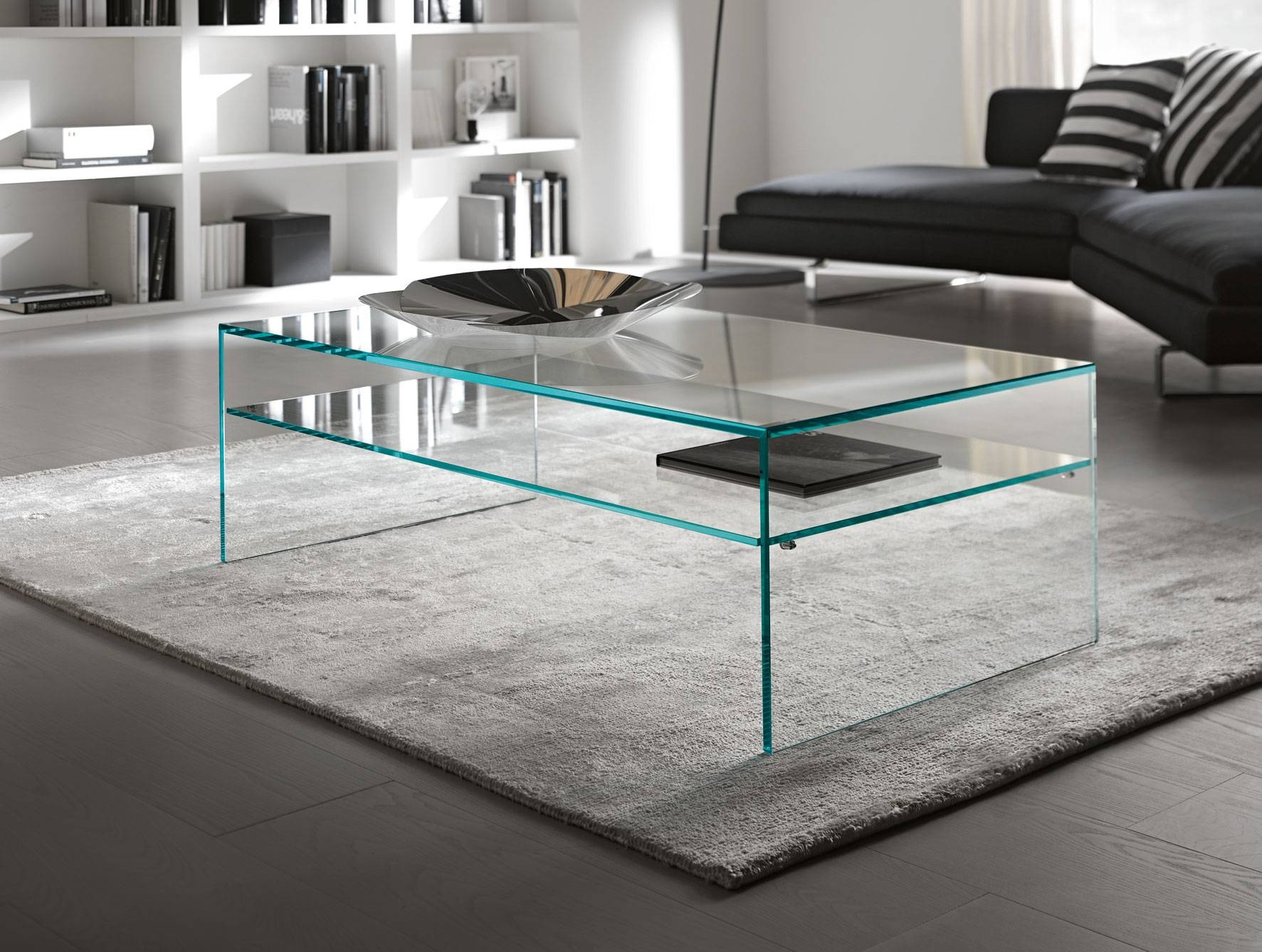 Glass Furniture Modern And Simple Dining Furniture Set A Glass Top with regard to All Glass Coffee Tables (Image 17 of 30)
