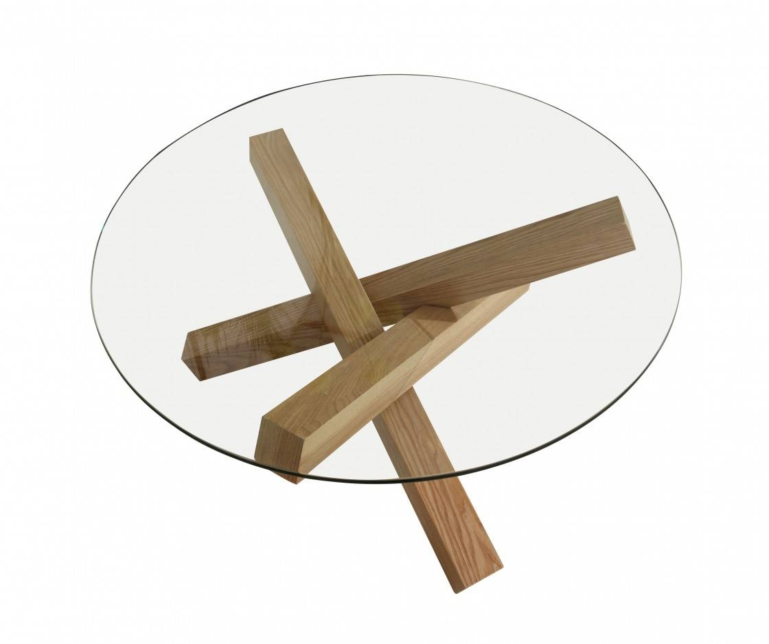 Glass Round Coffee Table with regard to Wooden and Glass Coffee Tables (Image 21 of 30)