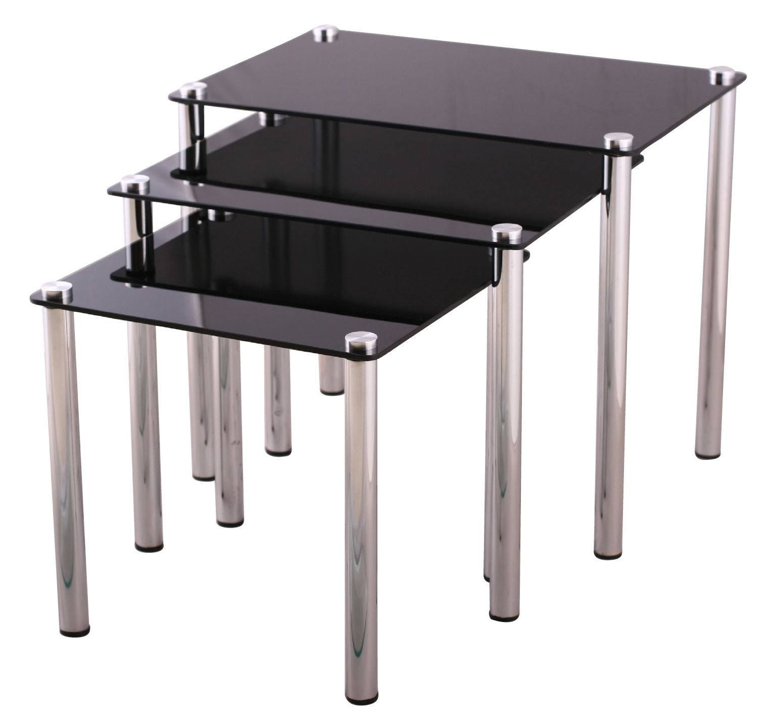 Glass Side Tables | Ebay for Elephant Glass Top Coffee Tables (Image 17 of 30)