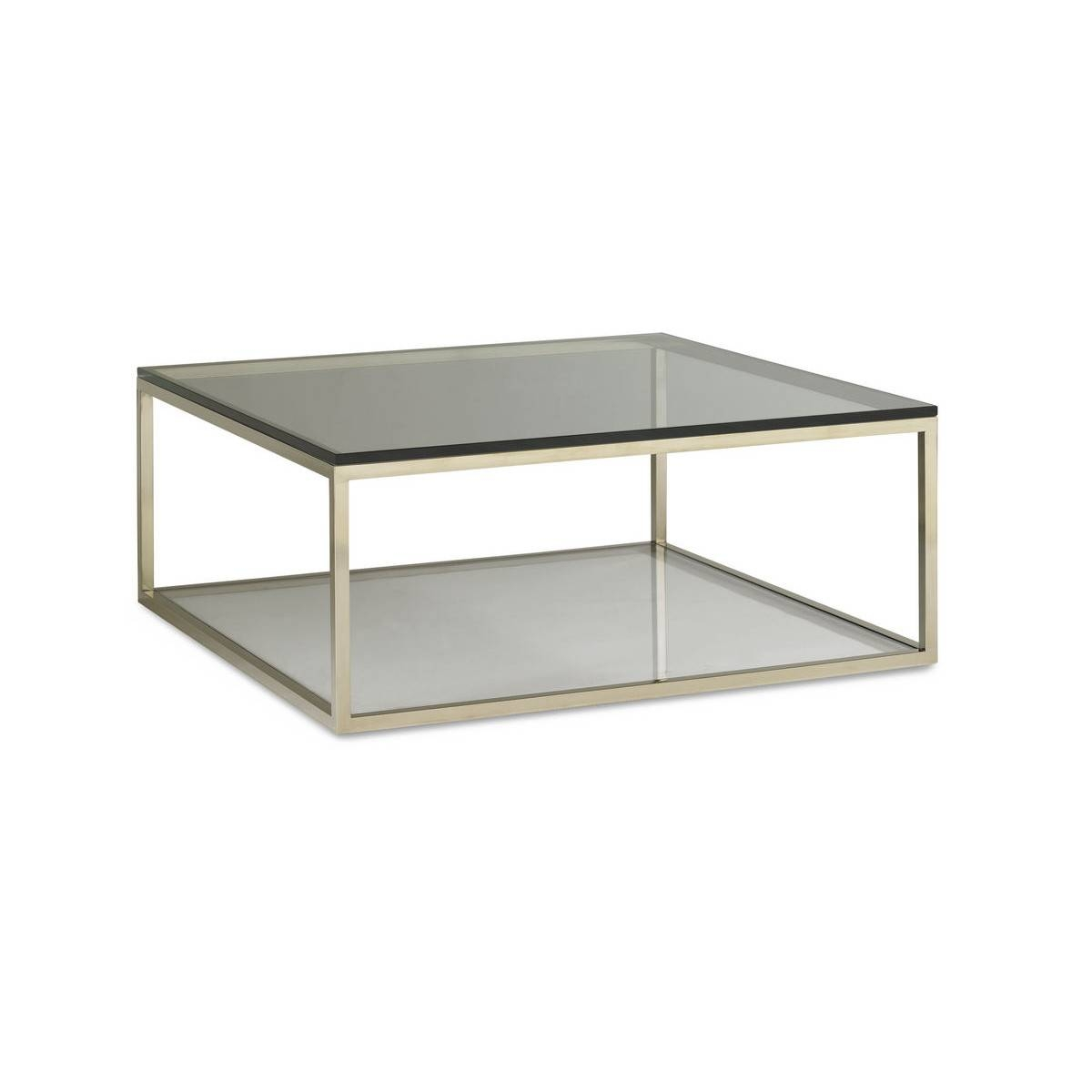Glass Square Coffee Table - Jericho Mafjar Project with regard to Chrome And Wood Coffee Tables (Image 13 of 30)