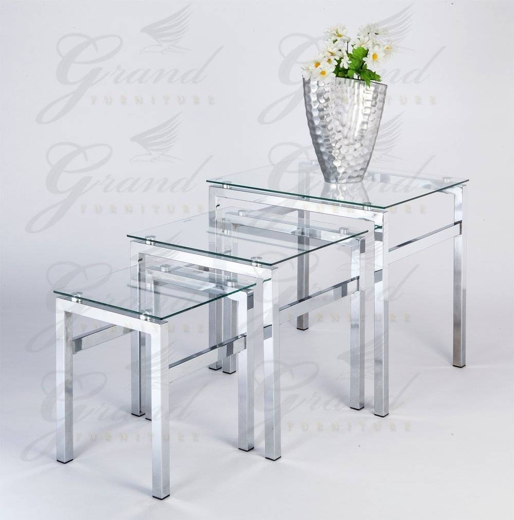 Glass Top Coffee Table Sets | Coffee Table Decoration in All Glass Coffee Tables (Image 18 of 30)