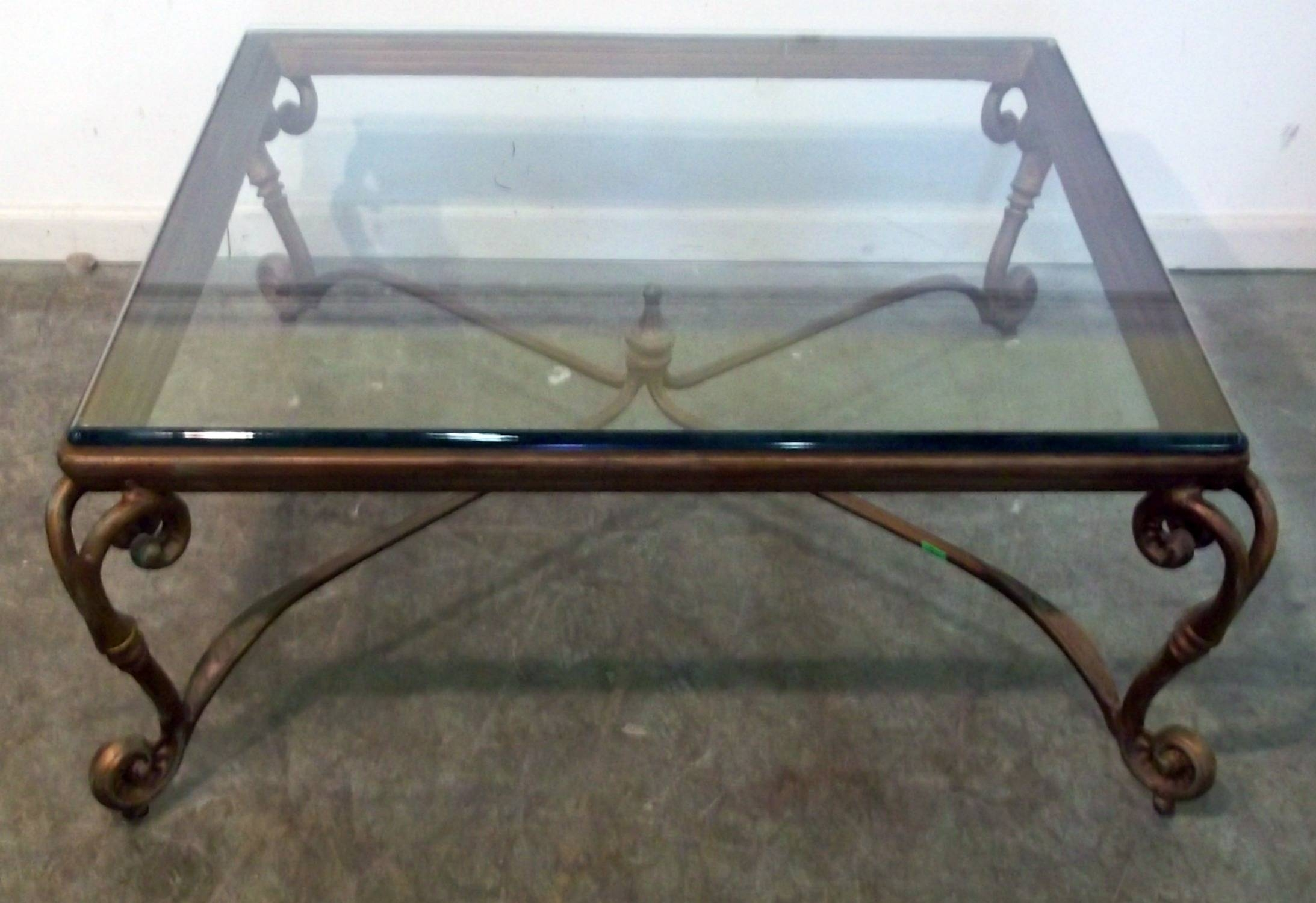 Glass Top Coffee Table With Iron Base | Coffee Tables Decoration within Metal Glass Coffee Tables (Image 19 of 30)