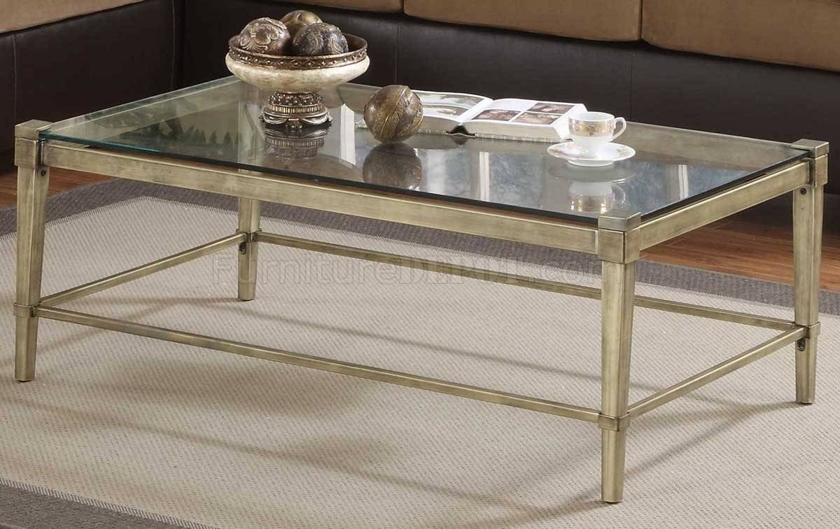 Glass Top Coffee Table With Metal Legs | Coffee Tables Decoration Pertaining To Coffee Tables Glass And Metal (View 19 of 30)