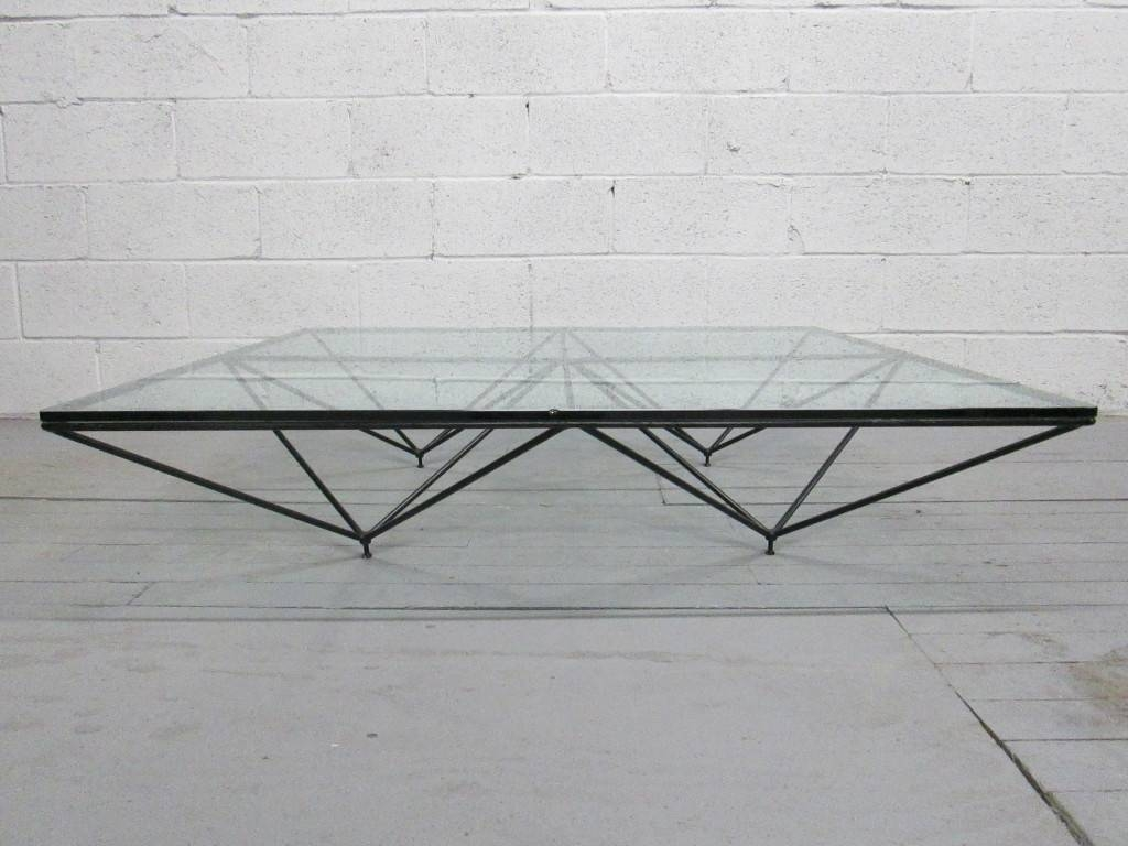Glass Top Coffee Table With Shiny Metal Circle Legs - Jericho within Metal Coffee Tables (Image 18 of 30)